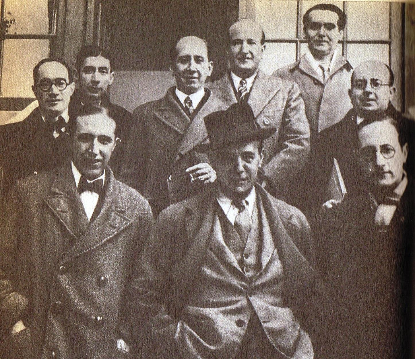 Lorca con Sánchez Mejías y unos amigos
