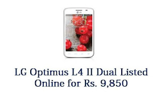LG Optimus L4 II Dual (E445) has been listed on the LG's Indian website for pre-order.