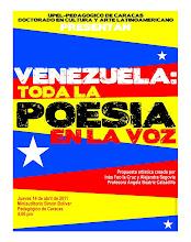 afiche VENEZUELA: POESÍA EN LA VOZ