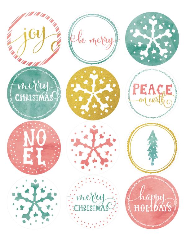 Printable Holiday Labels   Falala Designs
