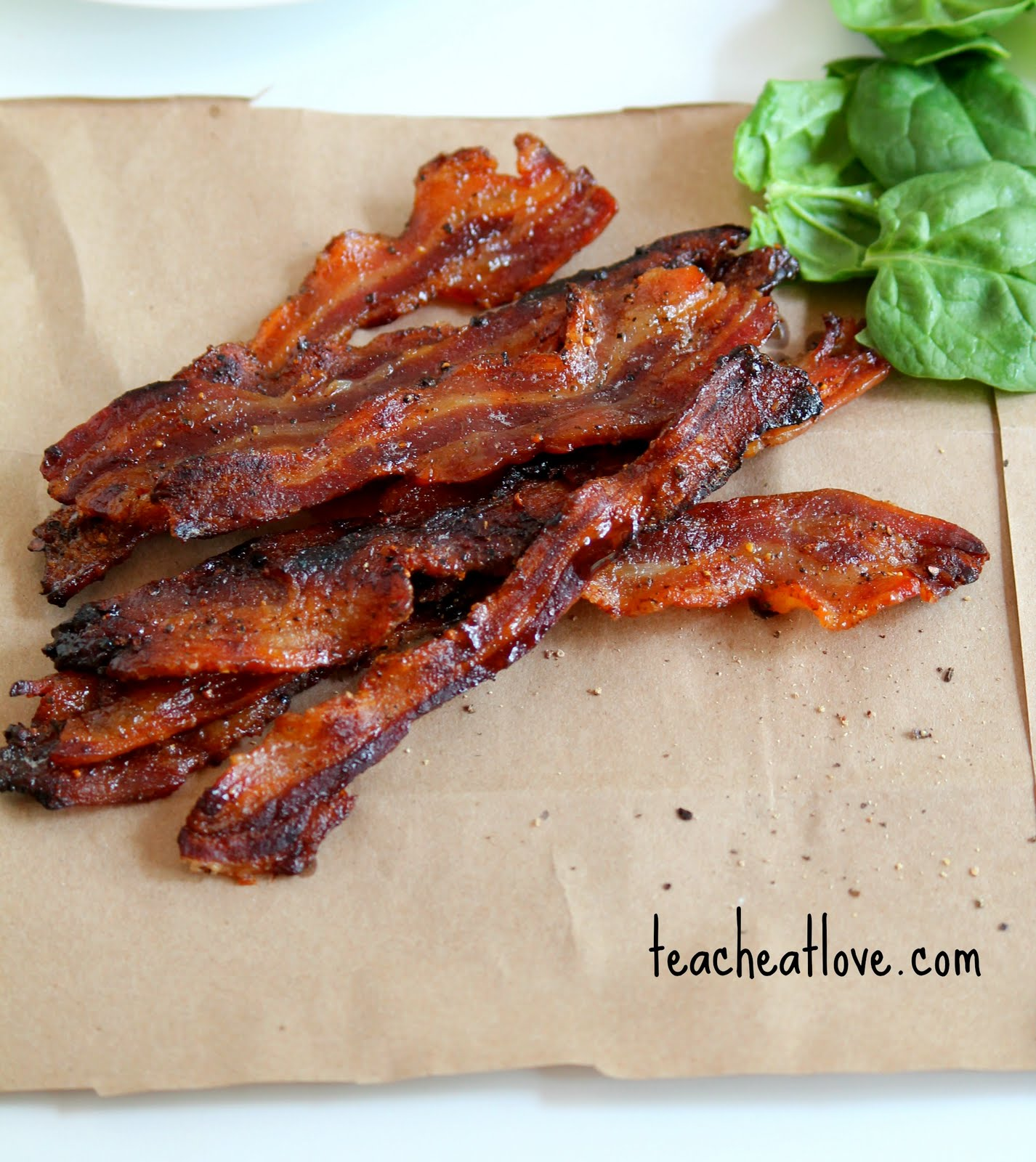 Maple Glazed Cracked Pepper Bacon | Teach Eat Love
