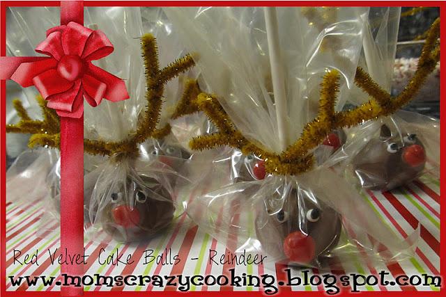 Red Velvet Reindeer Cake Balls