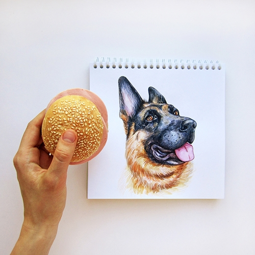 17-Not-interested-Valerie-Susik-Валерия-Суслопарова-Cats-and-Dogs-Interactive-Animal-Drawings-www-designstack-co