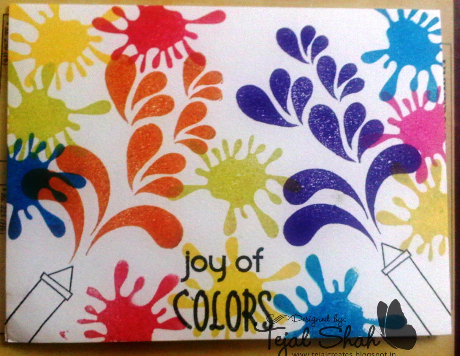 Holi Card Making Ideas Part - 17: Sending Both These Cards To Crafty JCu0027s Challenge - Many Colors Holi