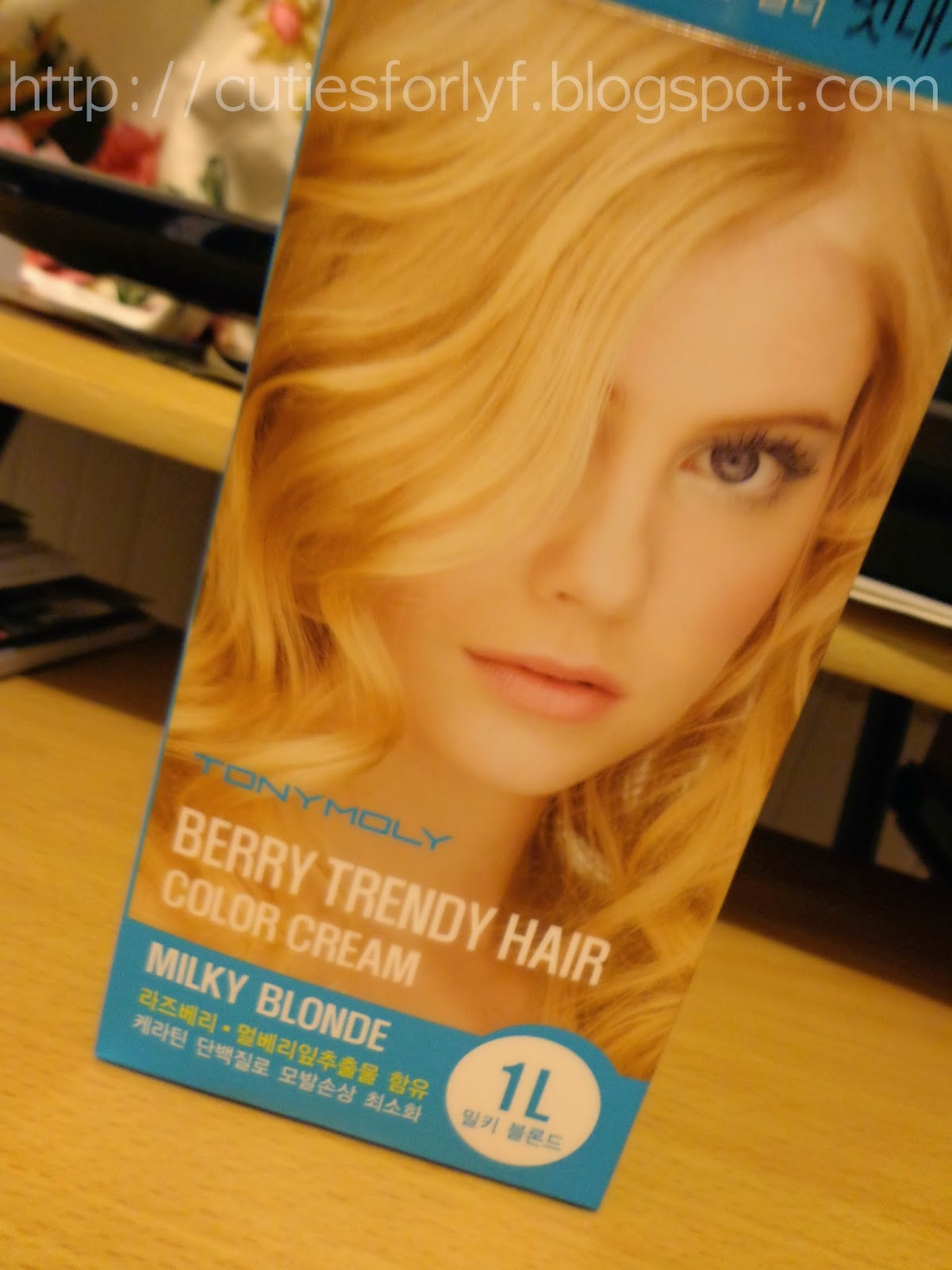 Cutiesforlyf Review Tony Moly Berry Trendy Hair Color Cream Milky