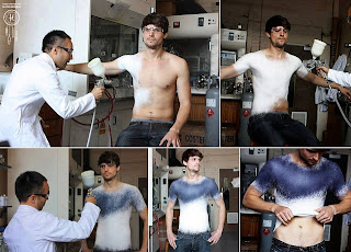 Spanish Fashion Designer Invents the World's First Spray-Clothes www.uwillcgossip.com