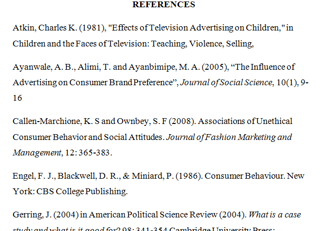 referencing in essays examples