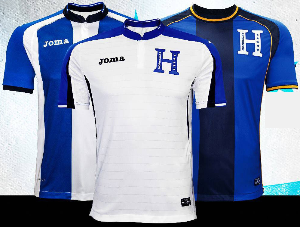 38915216c91 Joma Honduras 2016 Jerseys