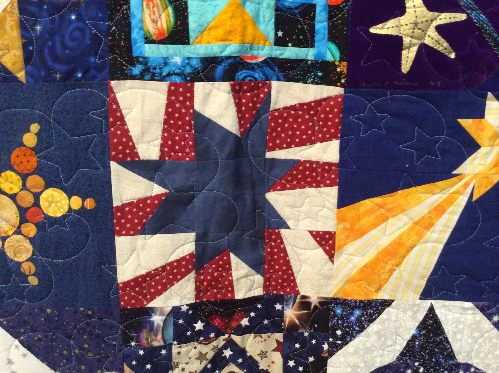 Sew many quilts too little time quilts and nasa for Space shuttle quilt