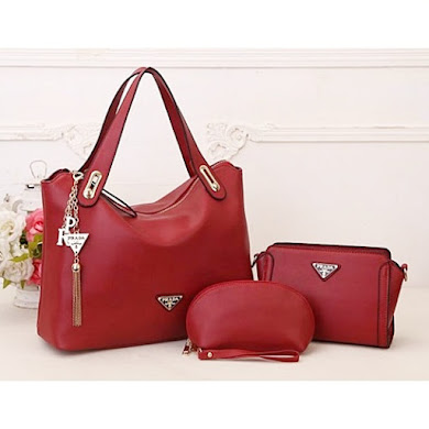 AAA WITH PRADA LOGO – RED