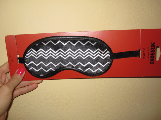 Missoni+for+Target+eye mask+black+and+white+design