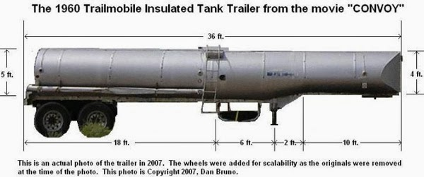The 1960 tank trailer actual real one from the movie convoy