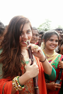 Actress Namitha Pongal Celetion Pictures in Salwar Kameez at SMK Fomra Insute of Technology  0003