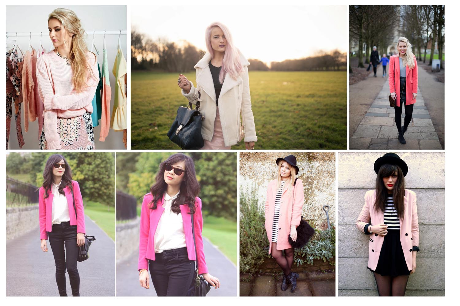 How to wear pink - blogger outfits