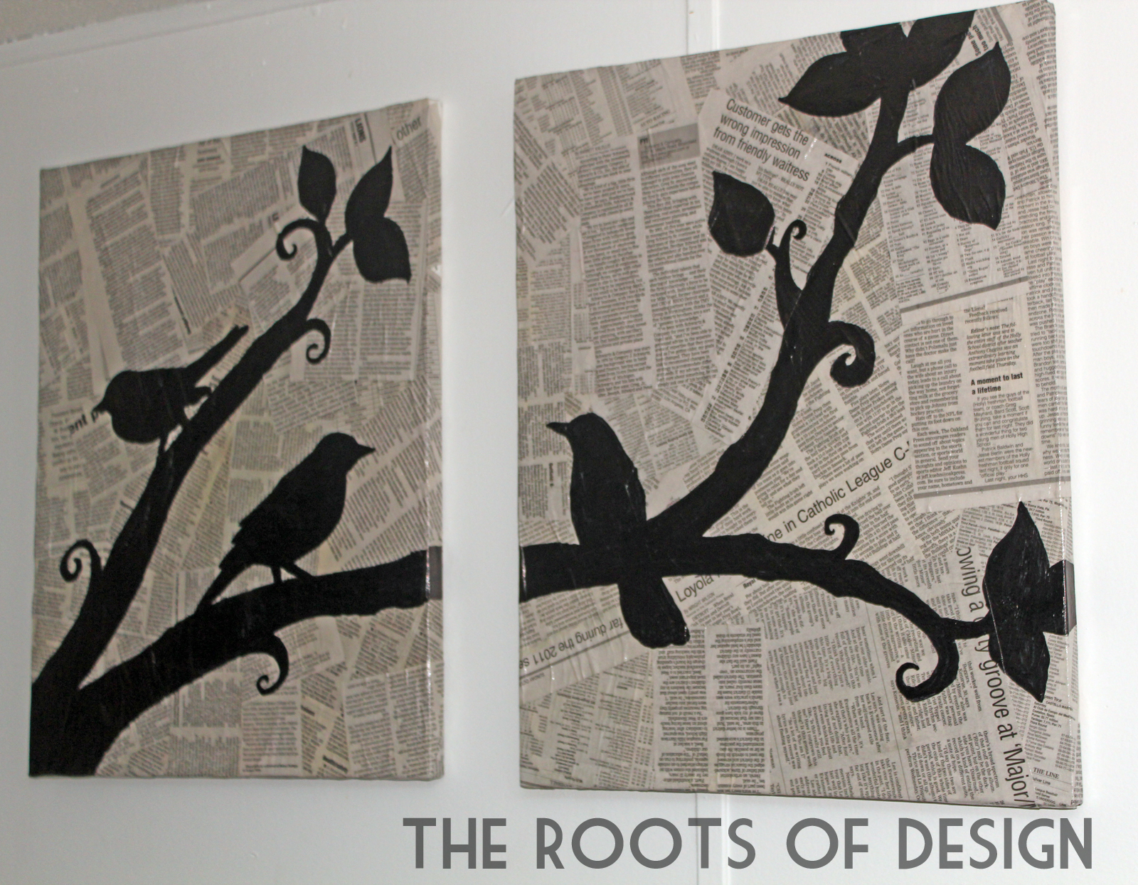 Diy Wall Art Using Newspaper : The roots of design diy newspaper art