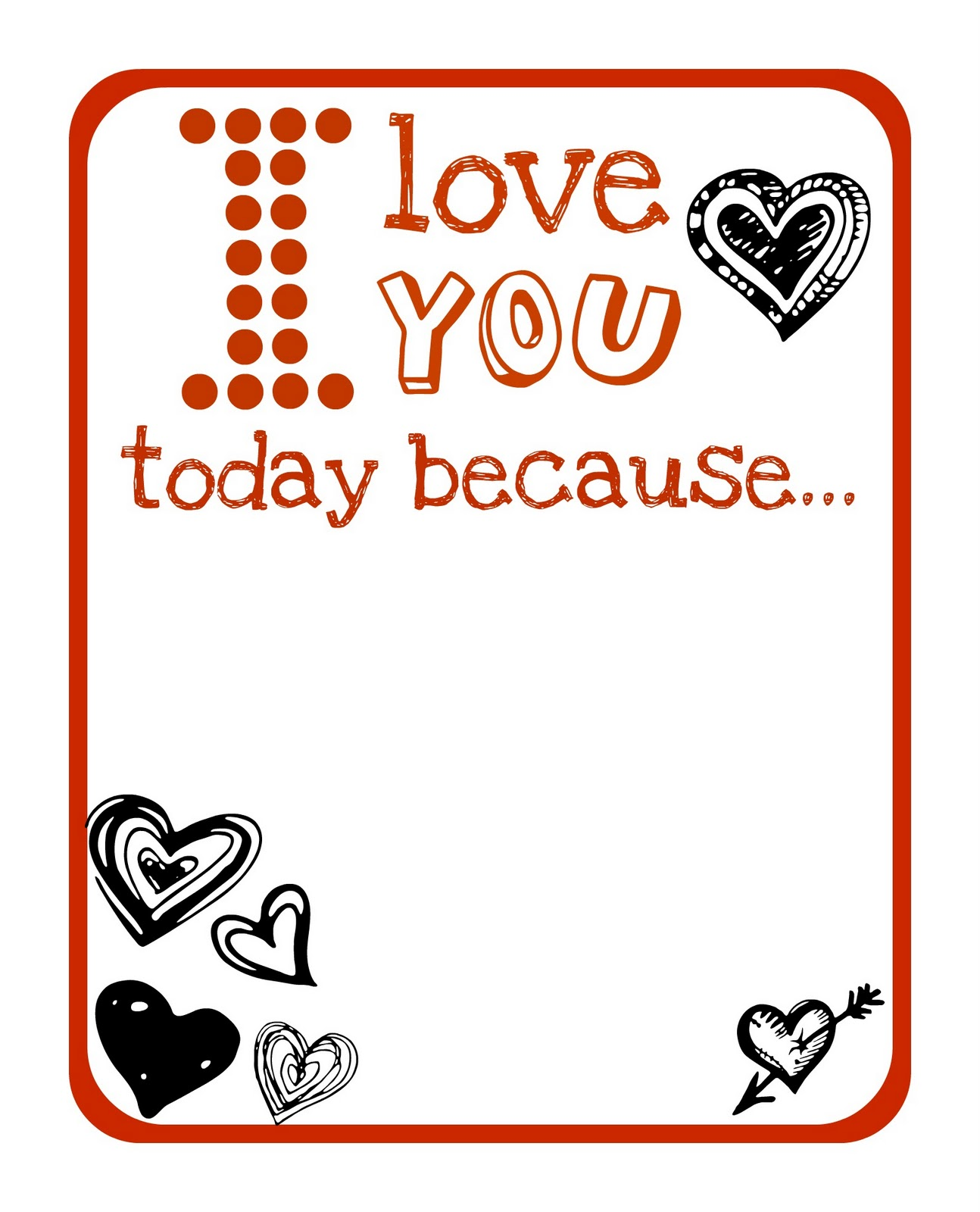 This is a picture of Adaptable Printable Love Notes
