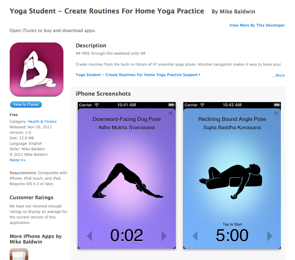 Free app today yoga student create routines for home yoga practice