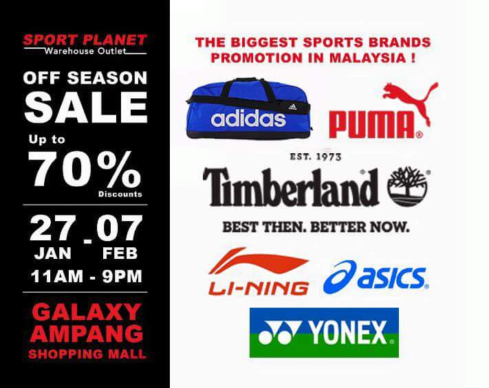 news largest sport brands off season sale up to 70 off at galaxy ampang
