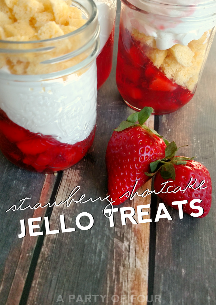 Strawberry Shortcake Jello Treats