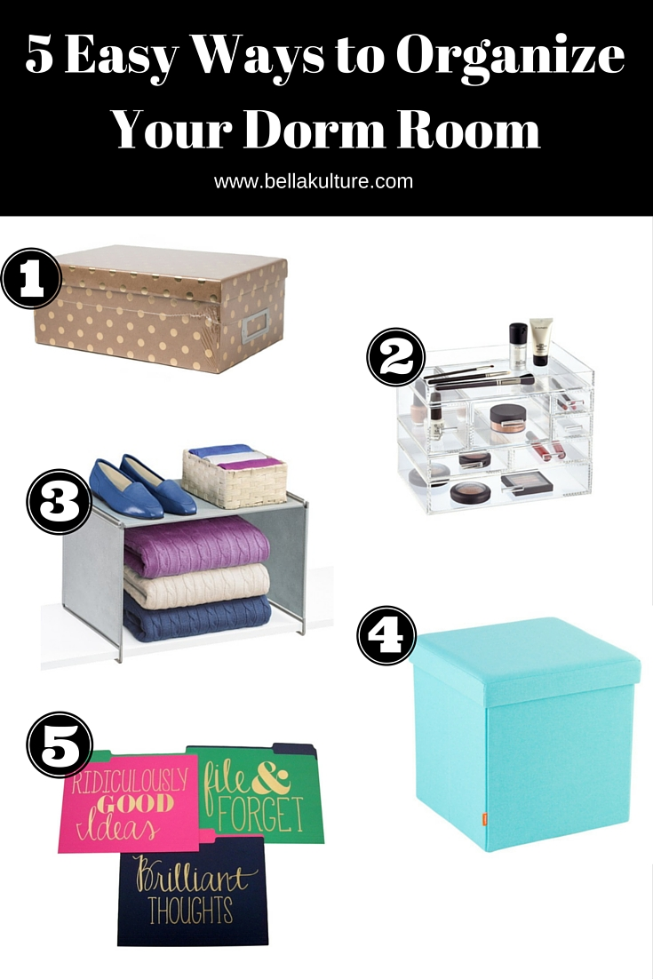 Creative Ways To Organize Your Dorm Room