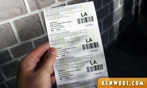 penang hill tickets
