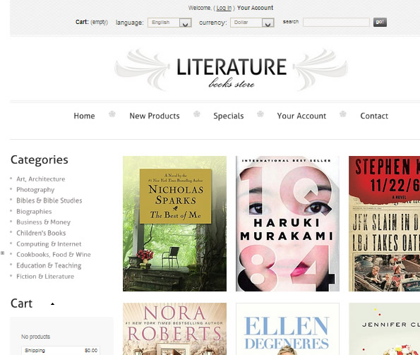 Ecommerce Site Name : Literature Books Store