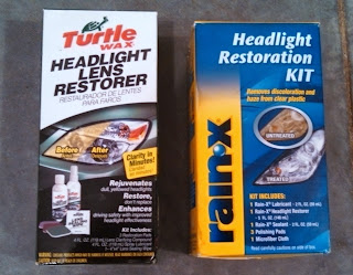 Turtle Wax and Rain-X Headlight Restoration Kits