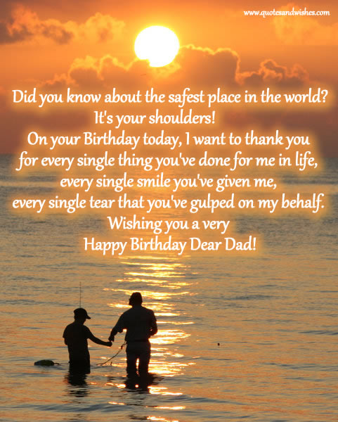 ENTERTAINMENT: BIRTHDAY QUOTES FOR DAD