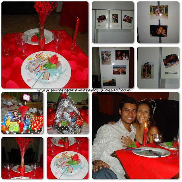 jantar romântico para namorado