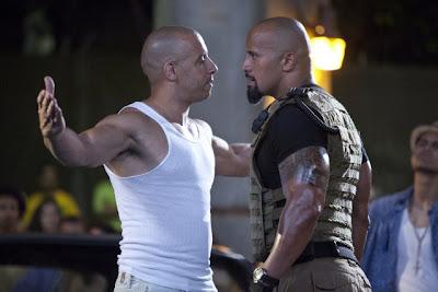 Dwayne Johnson and Vin Diesel in Fast Five