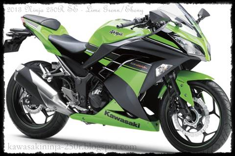 2013 Ninja 250R Green/Ebony Black Color Special Edition