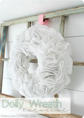 Doily Wreath