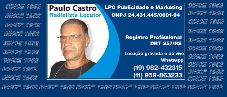 Locutor Paulo Castro