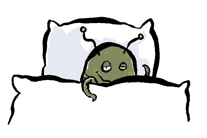 cartoon bedbug