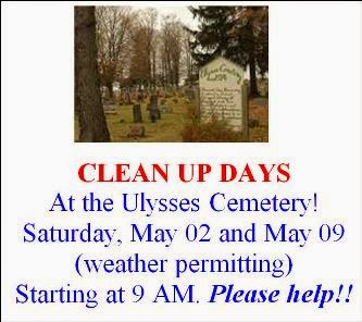 5-2 & 5-9 Clean Up Days Ulysses Cemetery