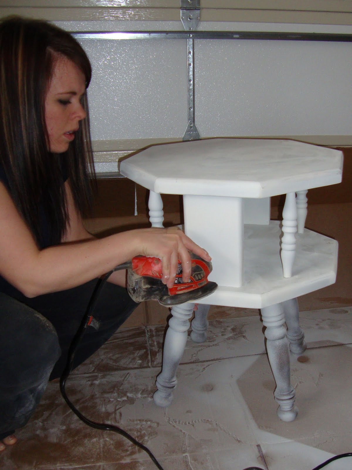 Doodlecraft End Table Redo