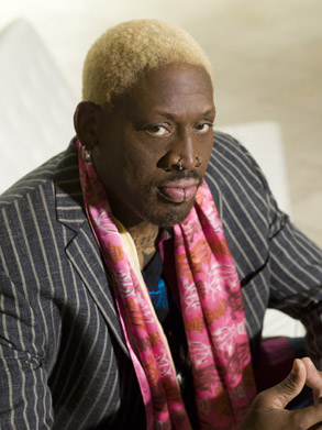 DENNIS RODMAN HITS FINANCIAL ROCK BOTTOM.