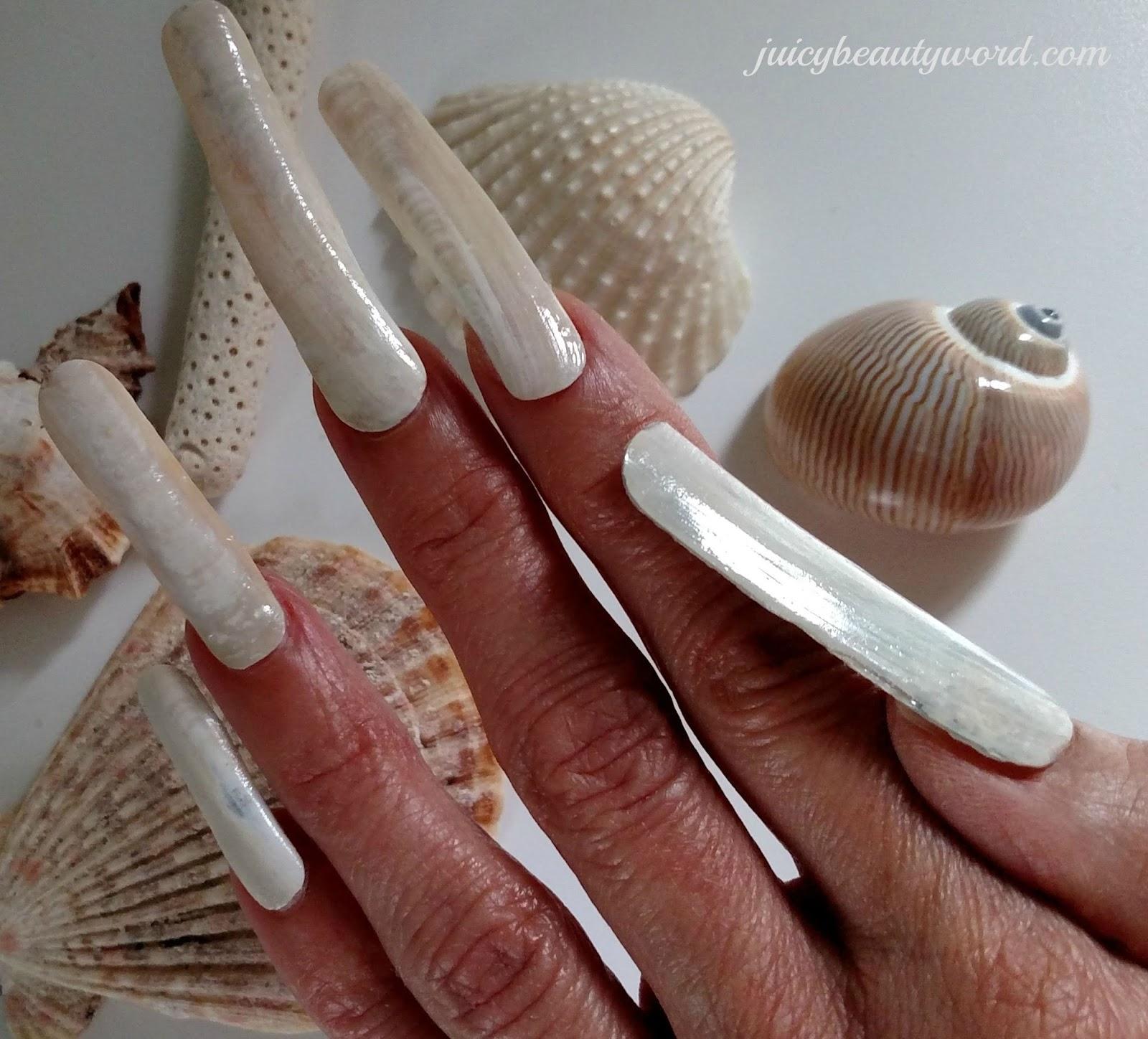 The juicy beauty word seashell nails sea shell nail designs shell nail art prinsesfo Images