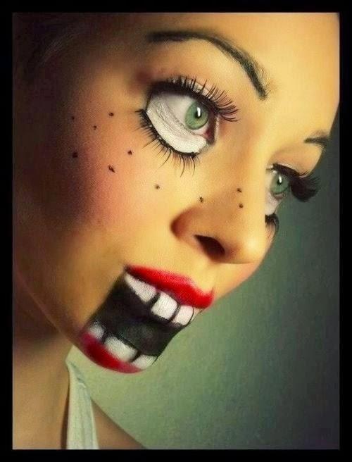 maquillaje monstruoso