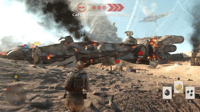 Star Wars Battlefront Battle of Jakku Graveyard of Giants corellian corvette