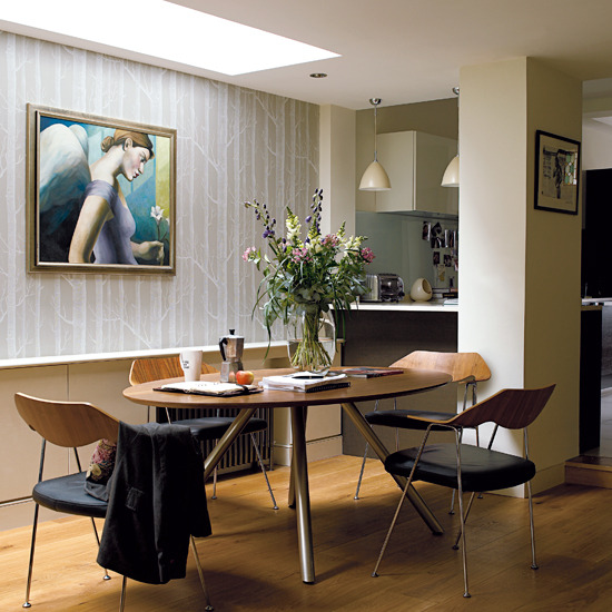 New home interior design take a tour around this open for Terraced house dining room ideas