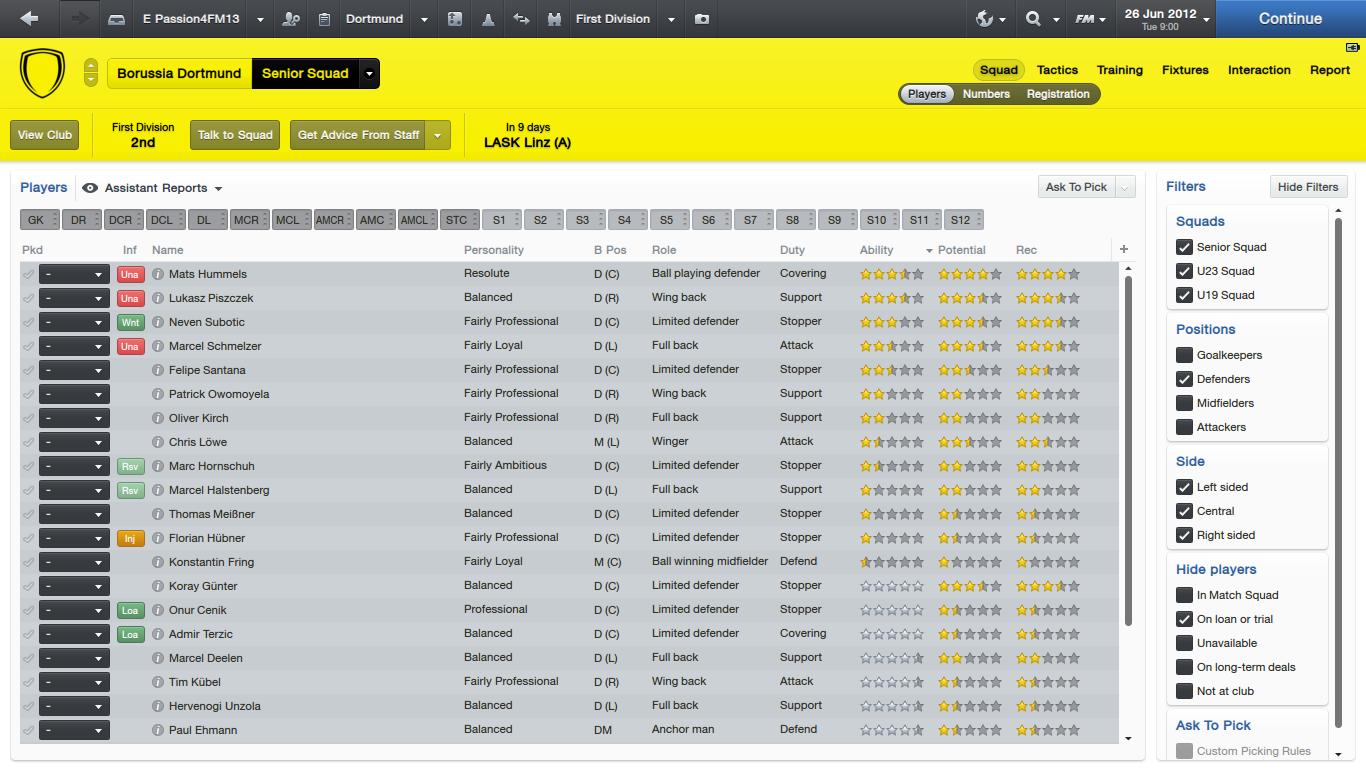 Dortmund Defenders