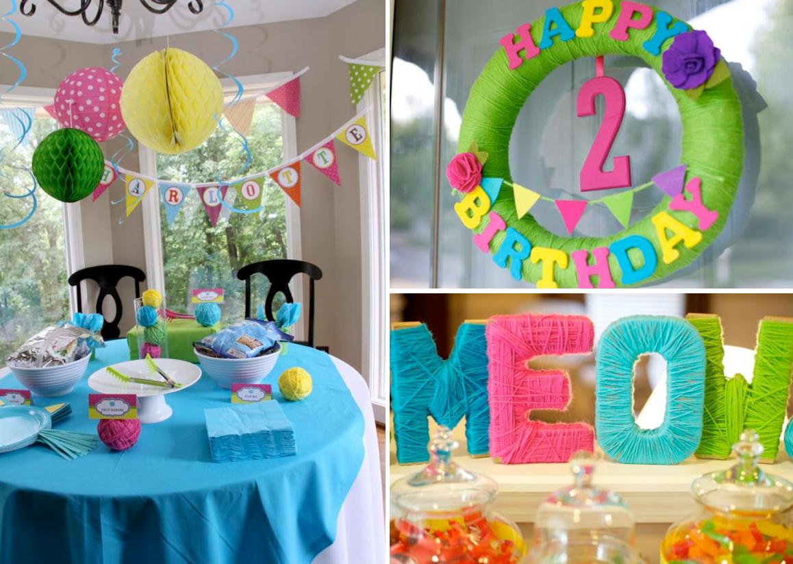 Оформление стола на день рождения ребенка своими руками фото