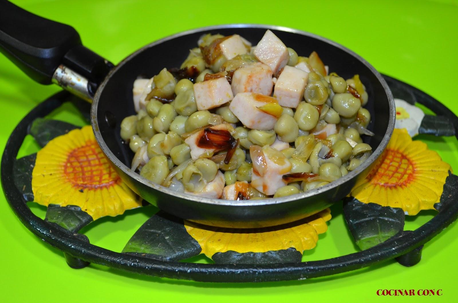 Cocinar Habas Tiernas | Cocinar Con C Habas Salteadas Con Calcots Y Pavo