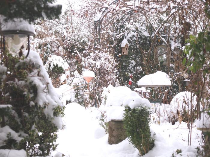 Meine gr ne leidenschaft gartendeko im schnee for Gartendeko winter