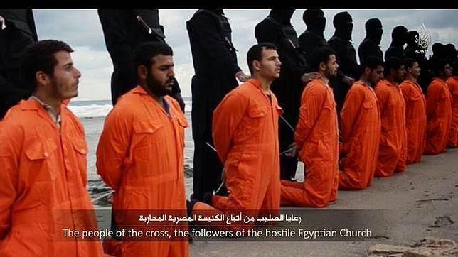 El Estado Islámico difunde vídeo de la decapitación de varios egipcios cristianos