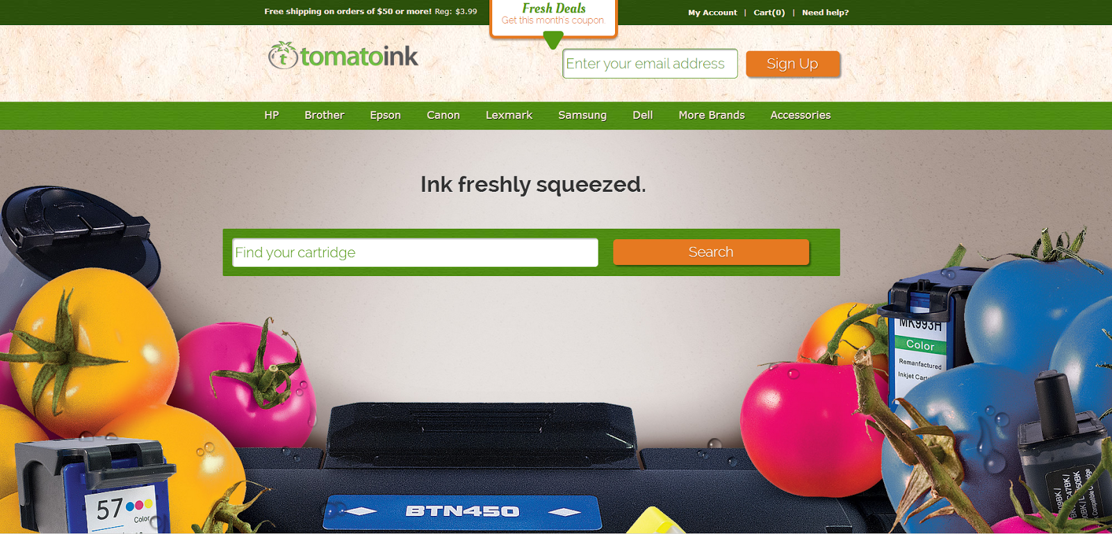 New TomatoInk Website