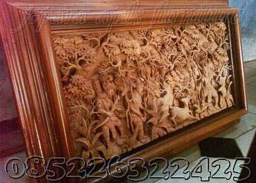 ukiran relief 3 dimensi jepara murah
