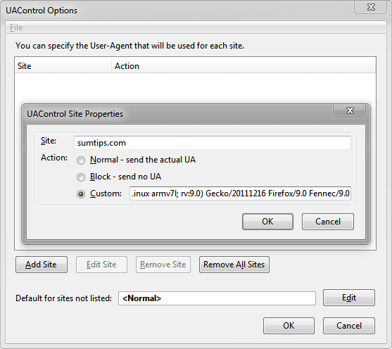 Set Custom User Agent on a Per-Site Basis in Chrome & Firefox