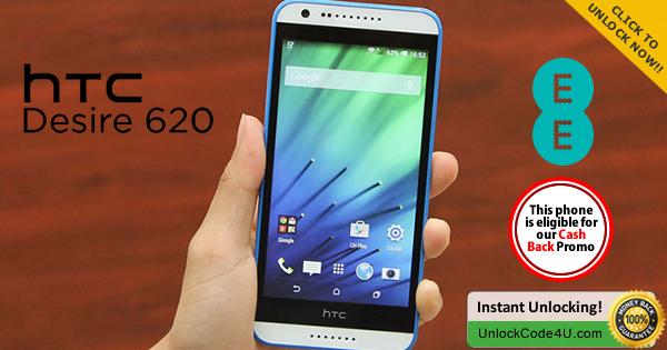 Factory Unlock Code for HTC Desire 620